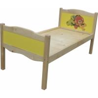 Кровать 1- ярусная ЛДСП + массив с УФ печатью