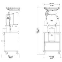 Автоматическая соковыжималка для апельсинов ZumeX Speed Pro Tank Podium drain clean system