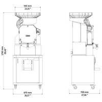 Автоматическая соковыжималка для апельсинов ZumeX Speed  Pro Self-Service Podium  drain-clean system