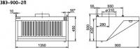 Зонт вентиляционный Abat ЗВЭ-900-2-П
