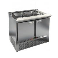 Стол для салатов HICOLD SLE3-11GN (полипропилен) без крышки