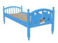 """Кровать детская """"Кот и пёс"""" (массив)"""