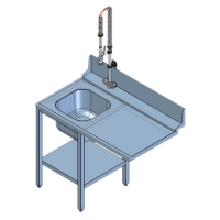 Стол предмоечный для посудомоечной машины СПМФ-7-1