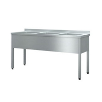 Моечная ванна Cryspi ВМН Ш 3 (L=1600, S=600, H=850, G=250)