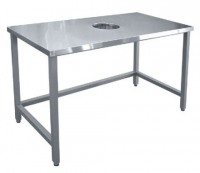 Стол для сбора отходов ССО-4 (1400x700x860мм.) вся нерж.