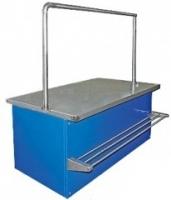 Мясной прилавок (1000х850) (встроенное холодоснабжение) с креплением для перекладины