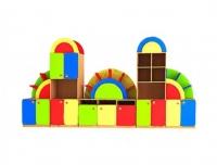 Стеллаж для детского сада Радуга модульный