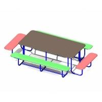 Стол со скамьями прямоугольный