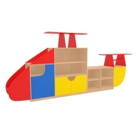 Стеллаж для детского сада Вертолёт